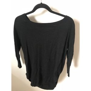 Express sweater with back lace up detail.